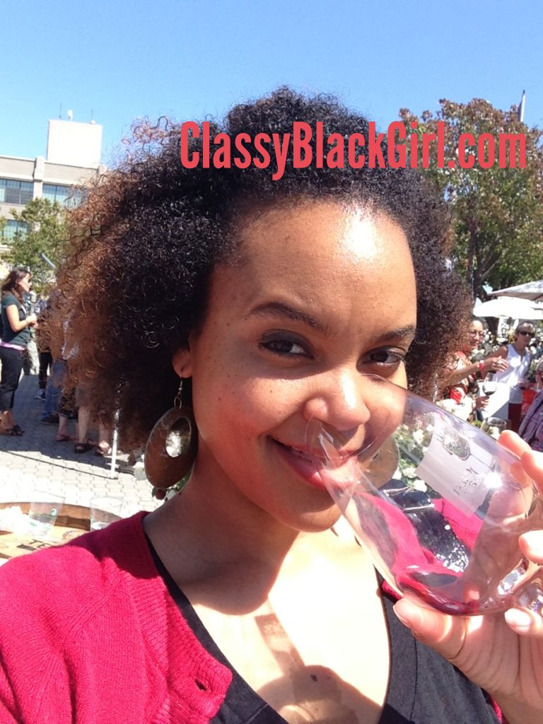 Sharelle D. Lowery Drinking Wine Classy Black Girl