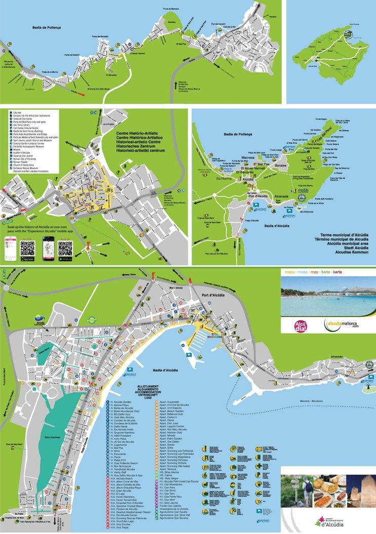 Alcdia tourist map Maps Pinterest Tourist map Majorca and Spain