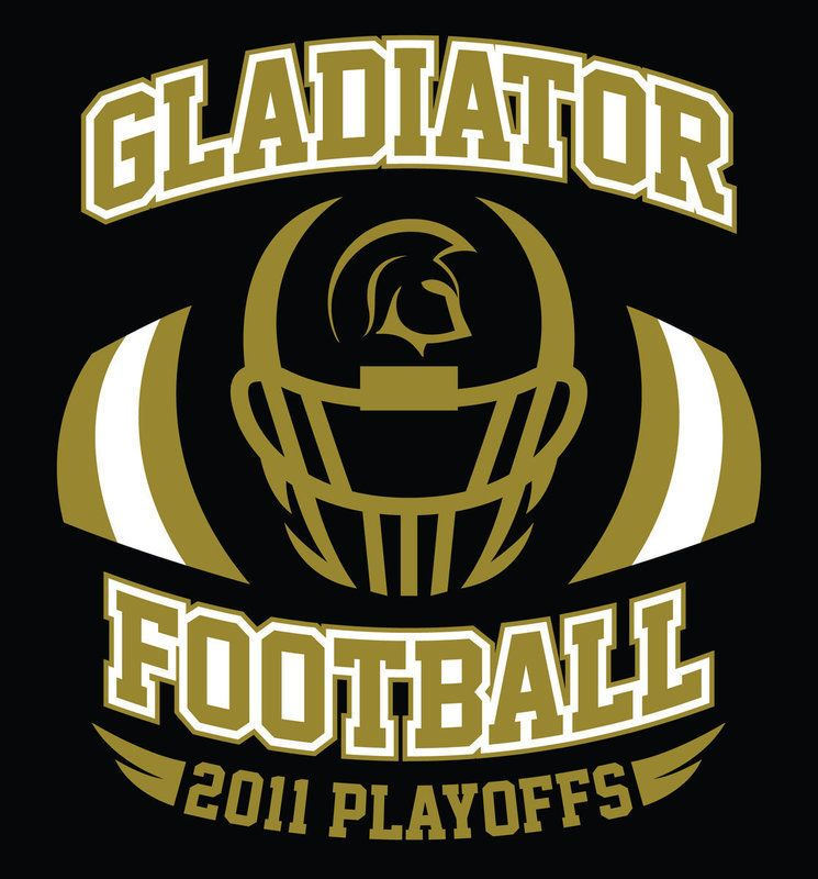 The Front Design Of The Gladiator Football Playoff T