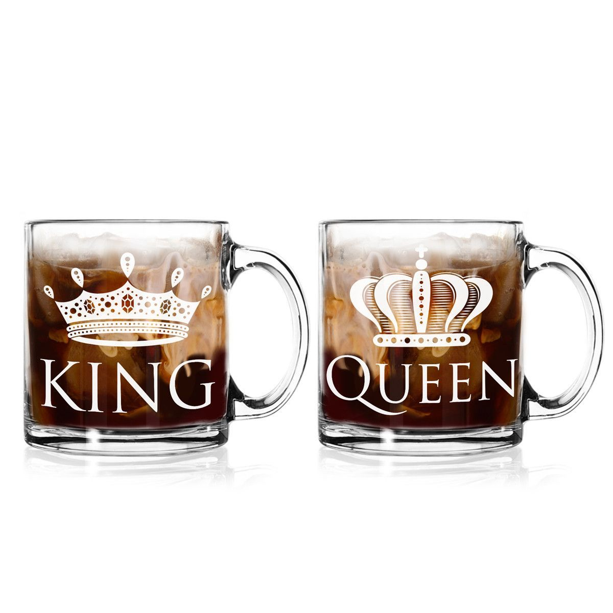 King And Queen Coffee Mugs 13 Oz Set Of 2 For The Mr Mrs