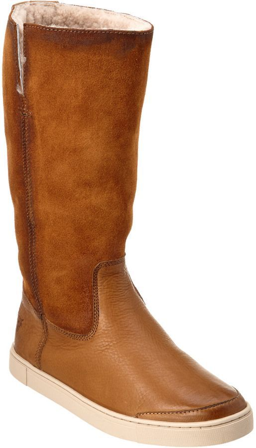 48e5fbec3 Frye Women's Gemma Tall Shearling Boot | Products | Shearling boots ...