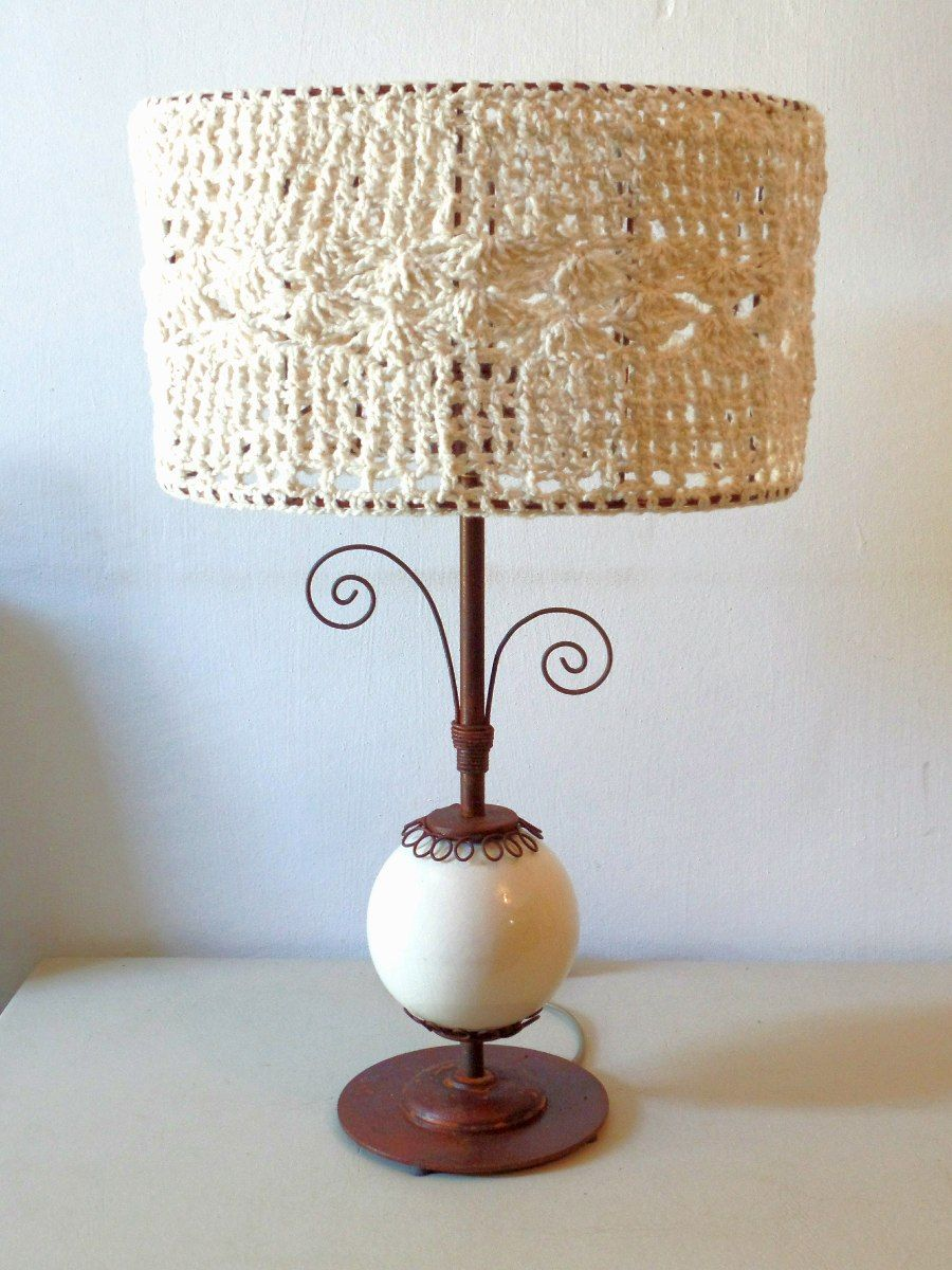 pantallas de lamparas tejidas a crochet - Buscar con Google ...