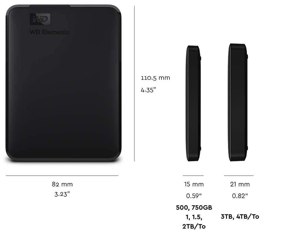 Wd Elements Portable Tech Specs Portable External Hard Drive External Hard Drive Usb