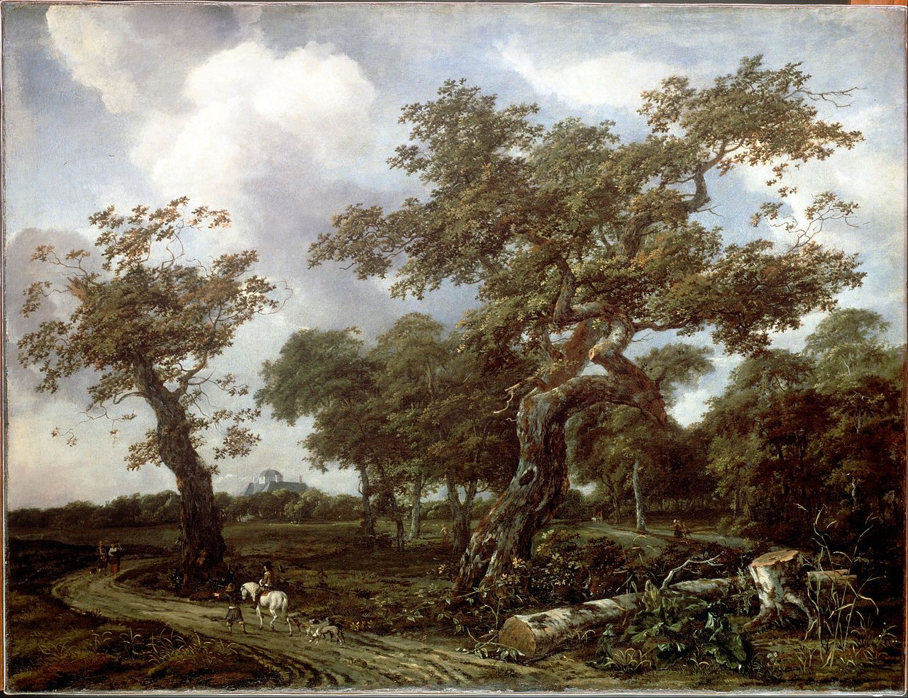 4 февраля. Van Kessel, Jan - A Wood near The Hague, with a view of ...