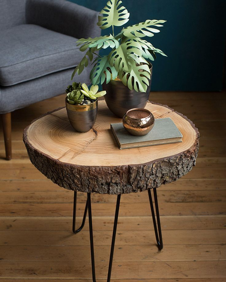 Table Basse Naturelle Bois Diy In 2020 Wood Coffee Table Diy Wooden Projects Wood Diy