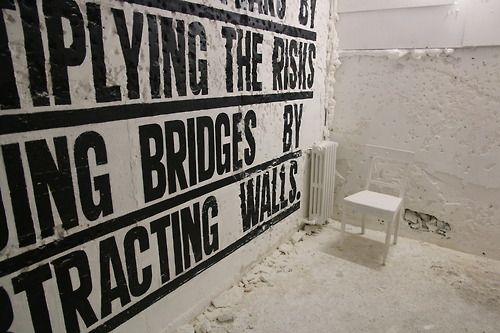 Tour Paris 13  I divide my fears by  multiplying the risks  adding bridges by  subtracting walls.