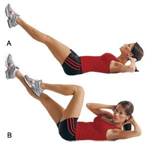 Bicycle Kicks Crunches Core Abs Exercises Workout