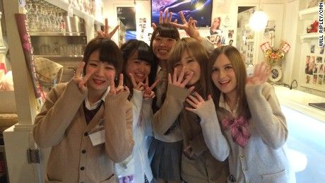 Japanese school girl group sex