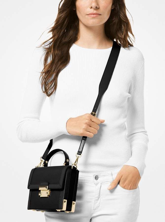 8447e638b8a MICHAEL Michael Kors Jayne Small Pebbled Leather Trunk Bag ...