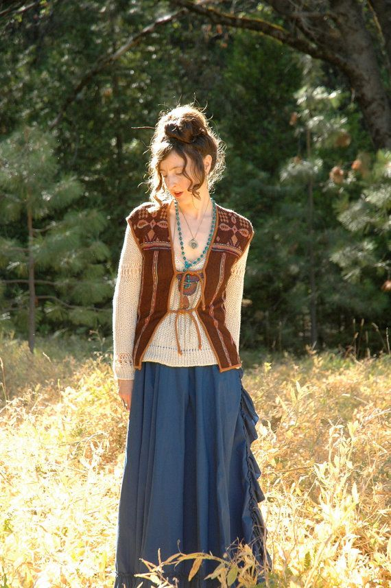 1970s Boho Sweater Vest... Autumn Fall Boho by AstralBoutique, $32.00