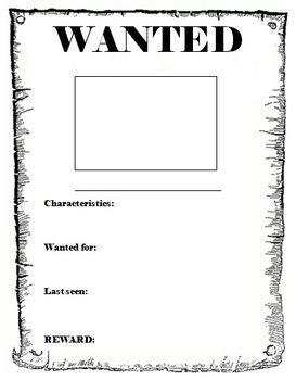 Wanted Poster template | Homeschool Language Arts ...