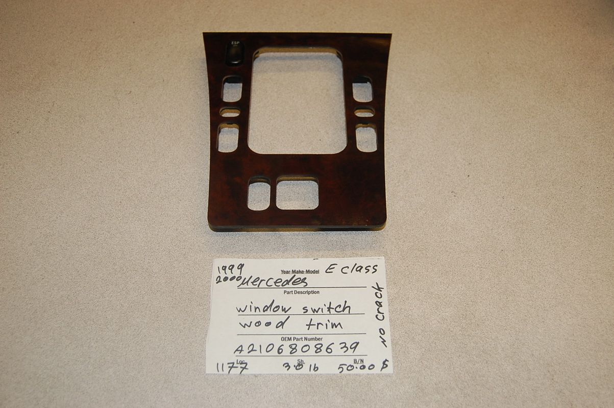 This Wood Trim With Switch Is For Mercedes Benz E320 Product E320the Year