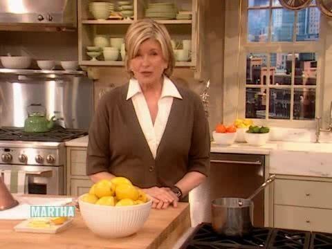 Martha shares a variety of wonderful ways to use lemons -- it's a Good Thing for Spring.