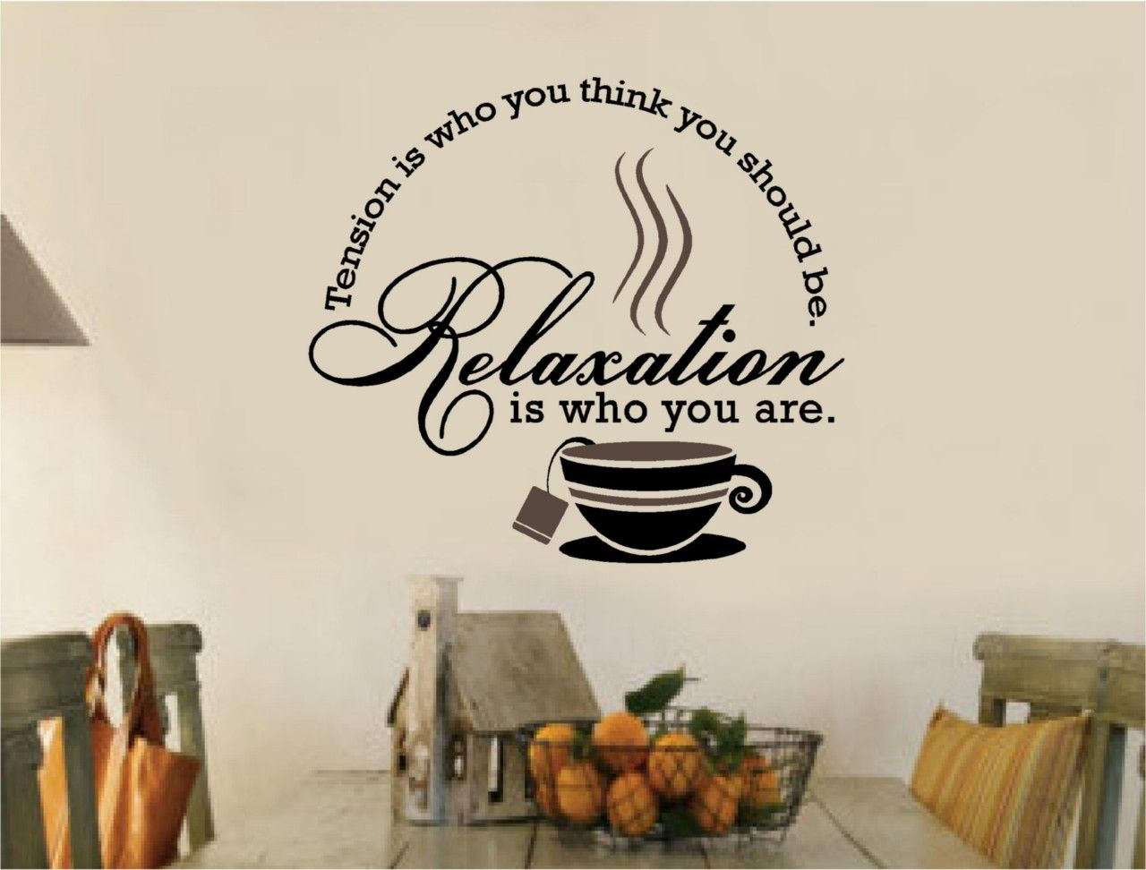 tea coffee stickers vinyl wall decal words kitchen ebay on wall stickers for kitchen id=38180