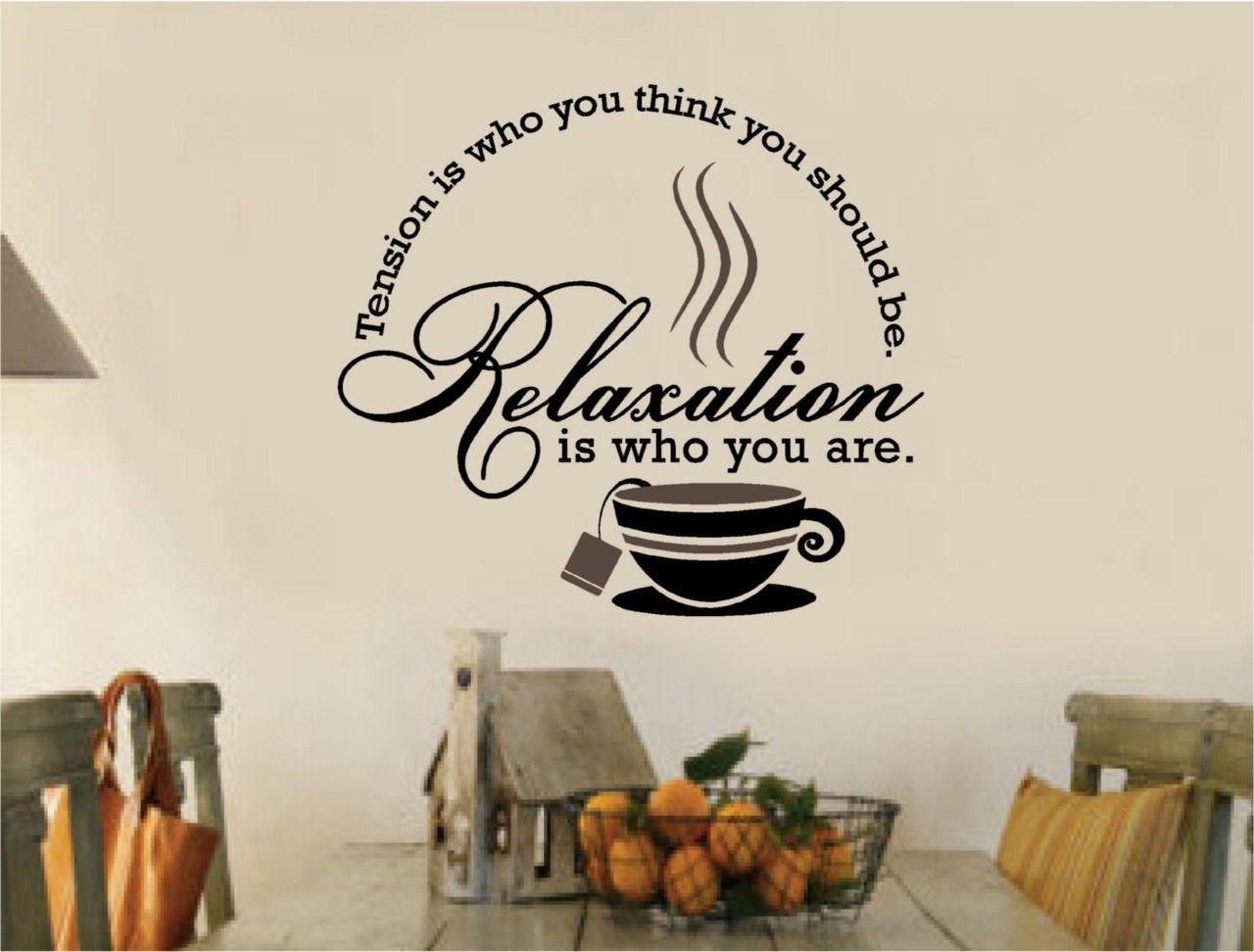 Tea Coffee Stickers Vinyl Wall Decal Words Kitchen Part 30