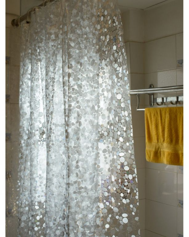 Clear Top Shower Curtain Modern