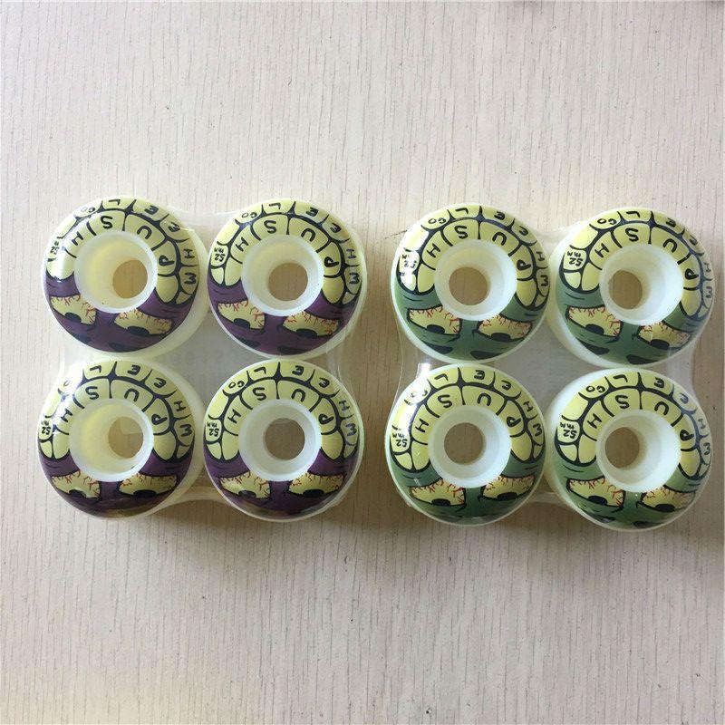 4 pz/set pro skate element/push grafica di skateboard ruote 52mm pu ruote skateboard deck board