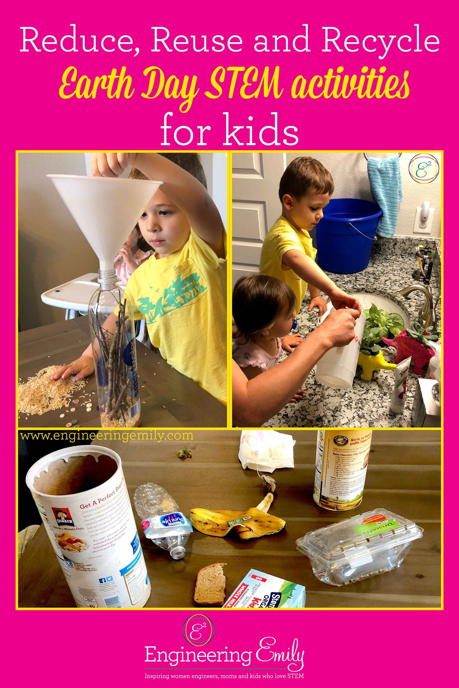 Reduce Reuse And Recycle Earth Day Stem Activities For