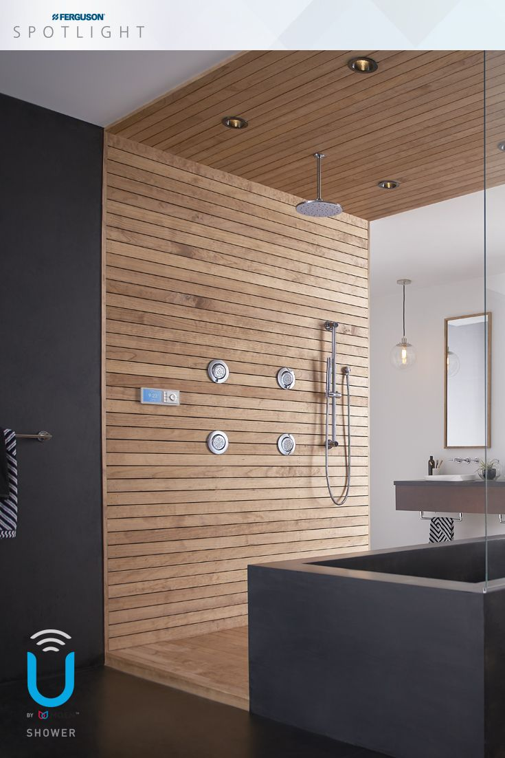 The U by Moen™ shower includes a digital valve that offers precise ...