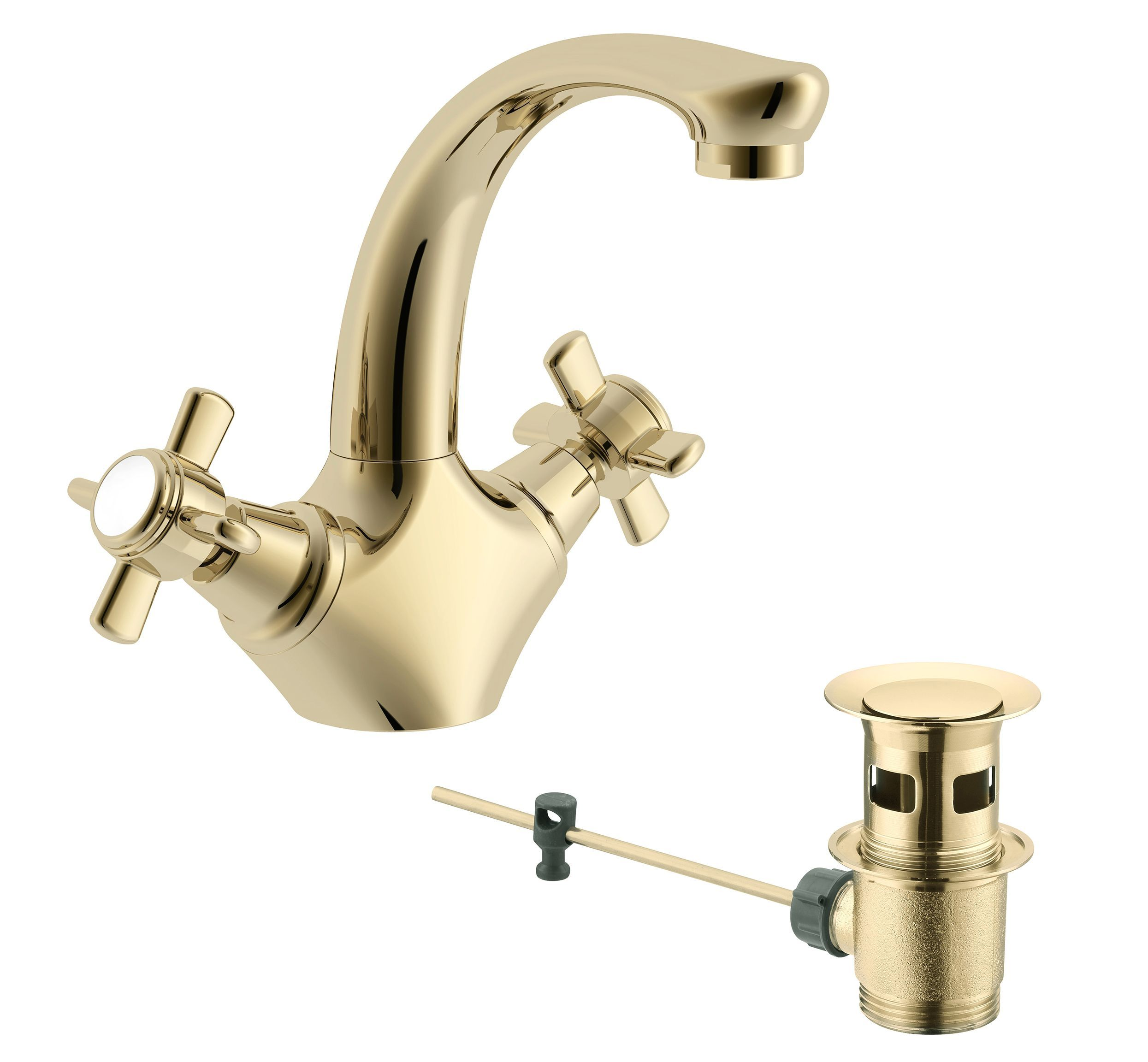 Cooke & Lewis Cascade Waterfall 2 Lever Basin Mixer Tap ...