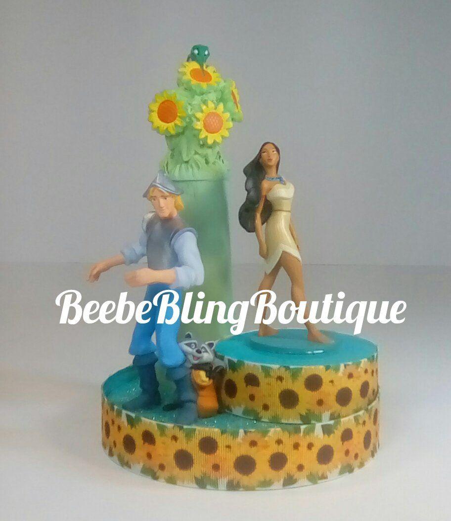 Disney Pocahontas cake topper. Pocahontas and John Smith