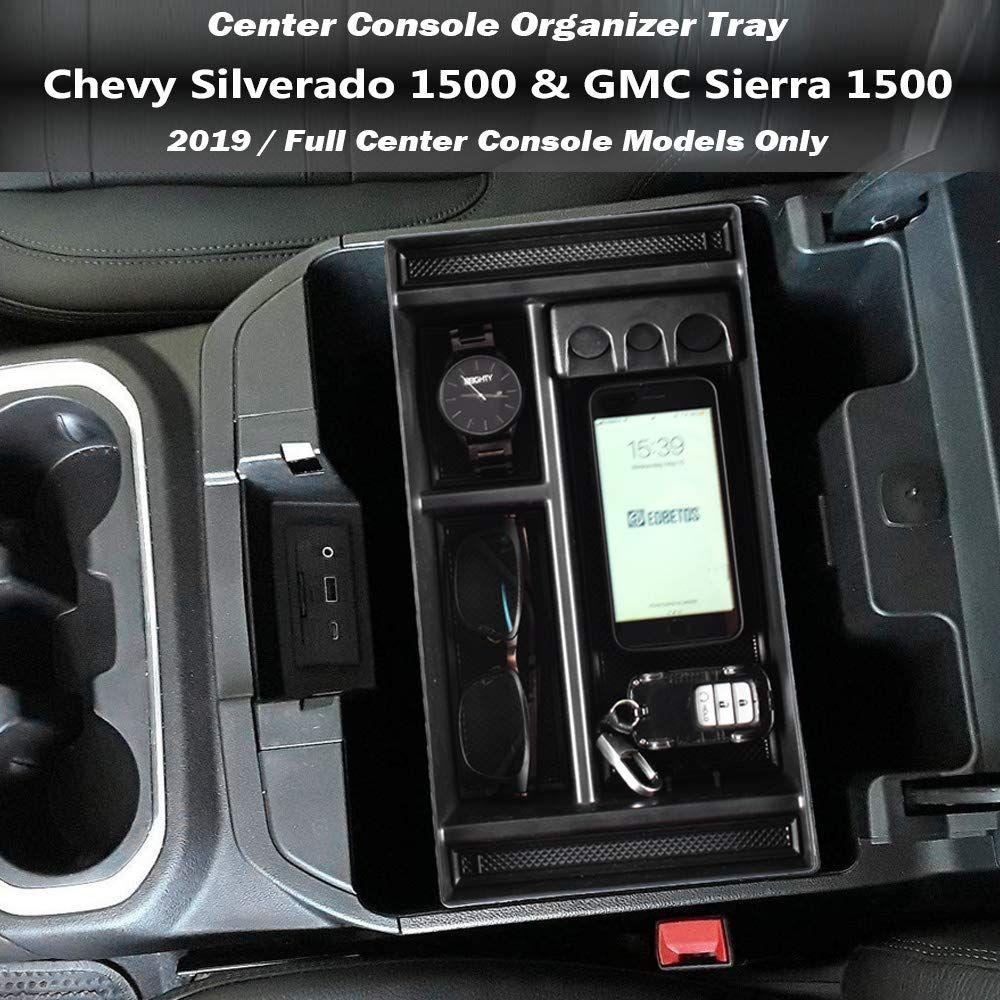 Edbetos Center Console Organizer Tray For 2019 Chevy Silverado