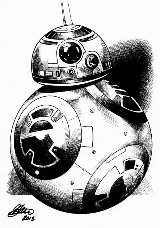Bb 8 by david golding star wars goodness pinterest for Star wars bb8 coloring pages