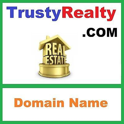 Domain Name - TRUSTY REALTY .COM - Real Estate Agent Realtor Home House Related  https://t.co/pufPADxCd8 https://t.co/7HvVB6Kpax