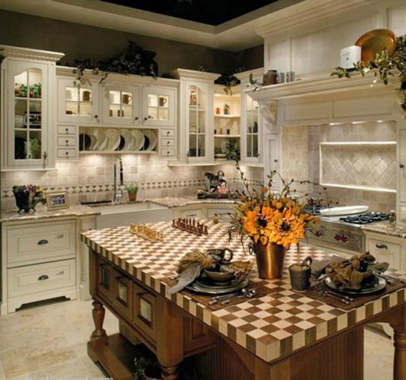 Country Kitchen Cabinets, English Country Kitchens, French
