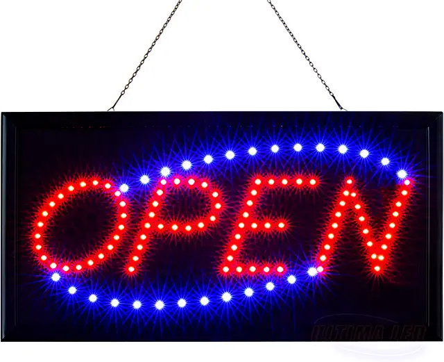 Amazon Com Neon Light Sign Neon Open Sign Business Signs Neon Signs