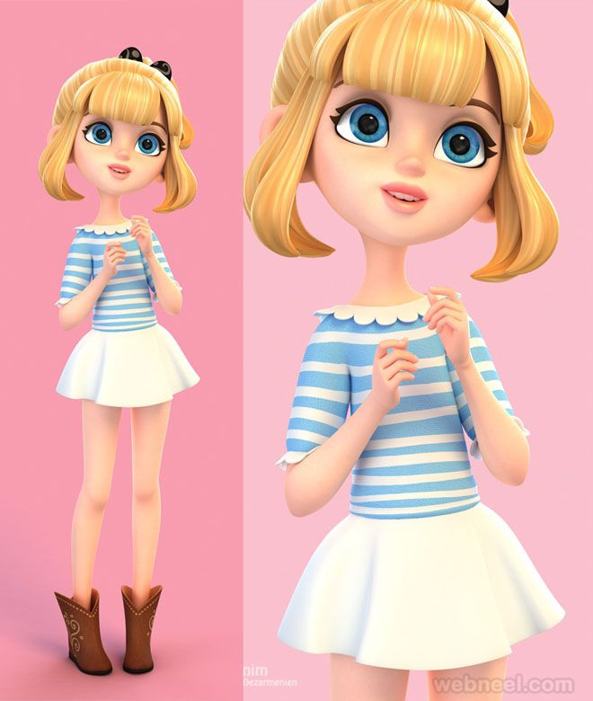 Character Design Girl : Beautiful d girls character designs and models