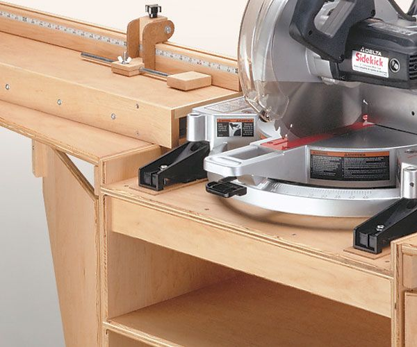 Miter Saw Station Woodworking Plan - Take a Closer Look ...