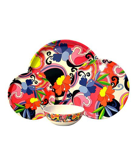 Featuring a tropical design this vibrant dinnerware set is great for the everyday. Made  sc 1 st  Pinterest & Featuring a tropical design this vibrant dinnerware set is great ...
