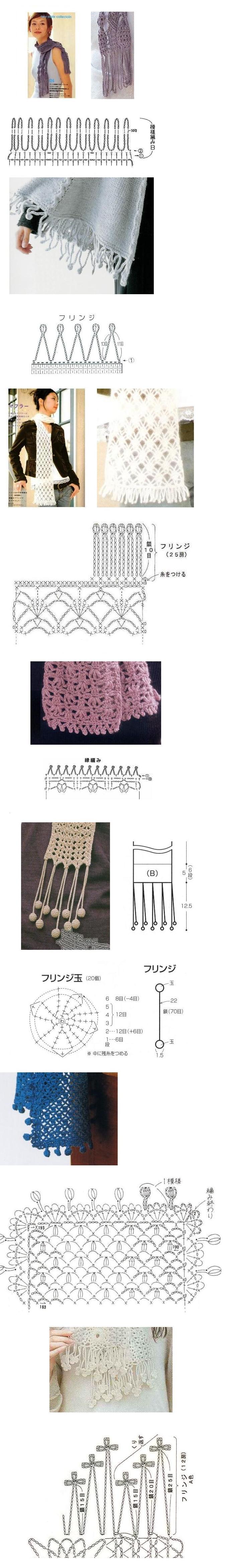 fun crochet borders! | crochet | Pinterest | Ganchillo, Tejido y Chal