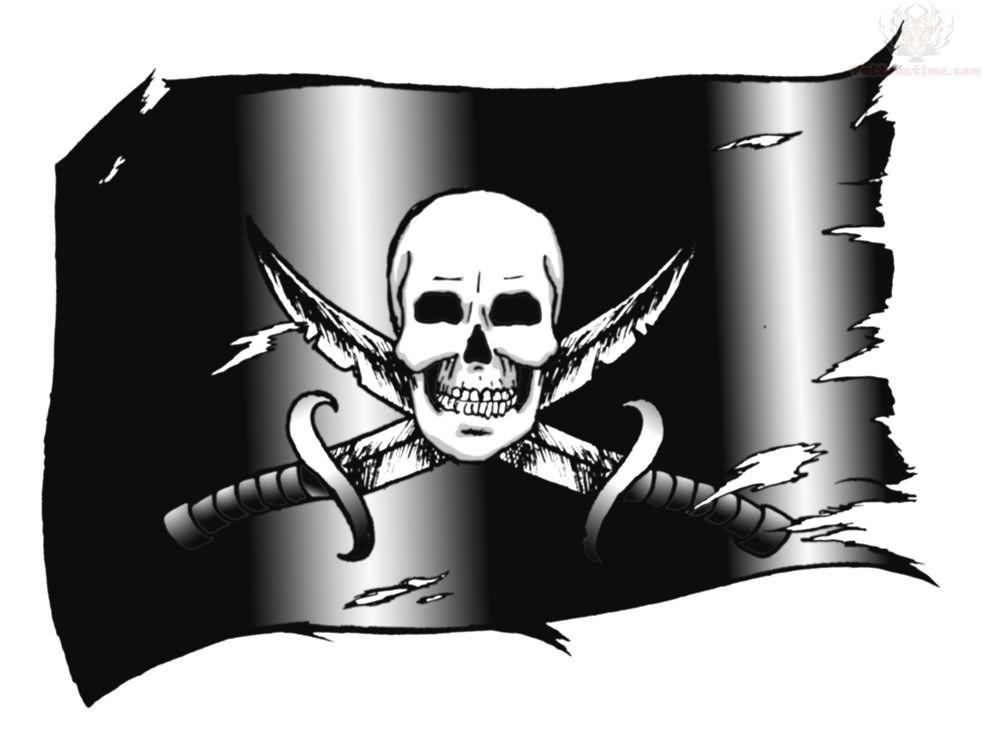 torn black pirate flag tattoo on arm sleeve pirate flag and skull tattoo designs pinterest. Black Bedroom Furniture Sets. Home Design Ideas