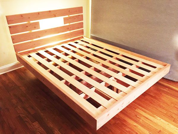 diy floating bed diy