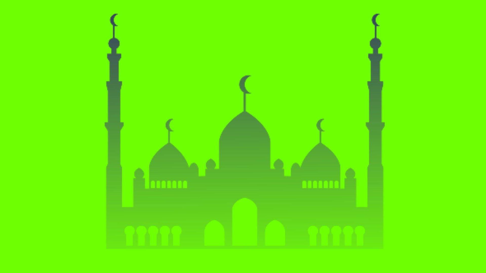 Green Screen Masjid Animasi