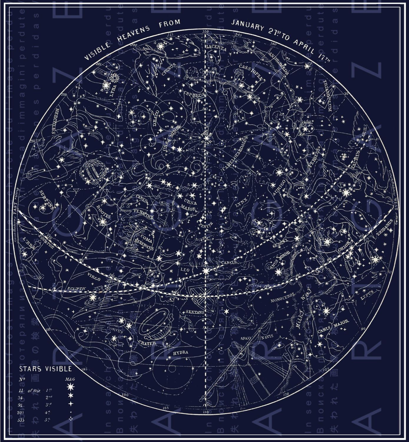 Star Map A Map Of The Constellations By Sunsang