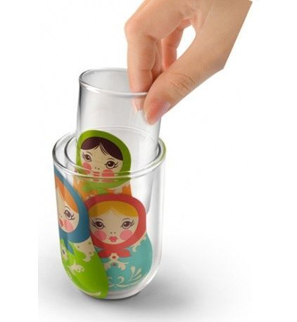 Russian nesting doll glasses