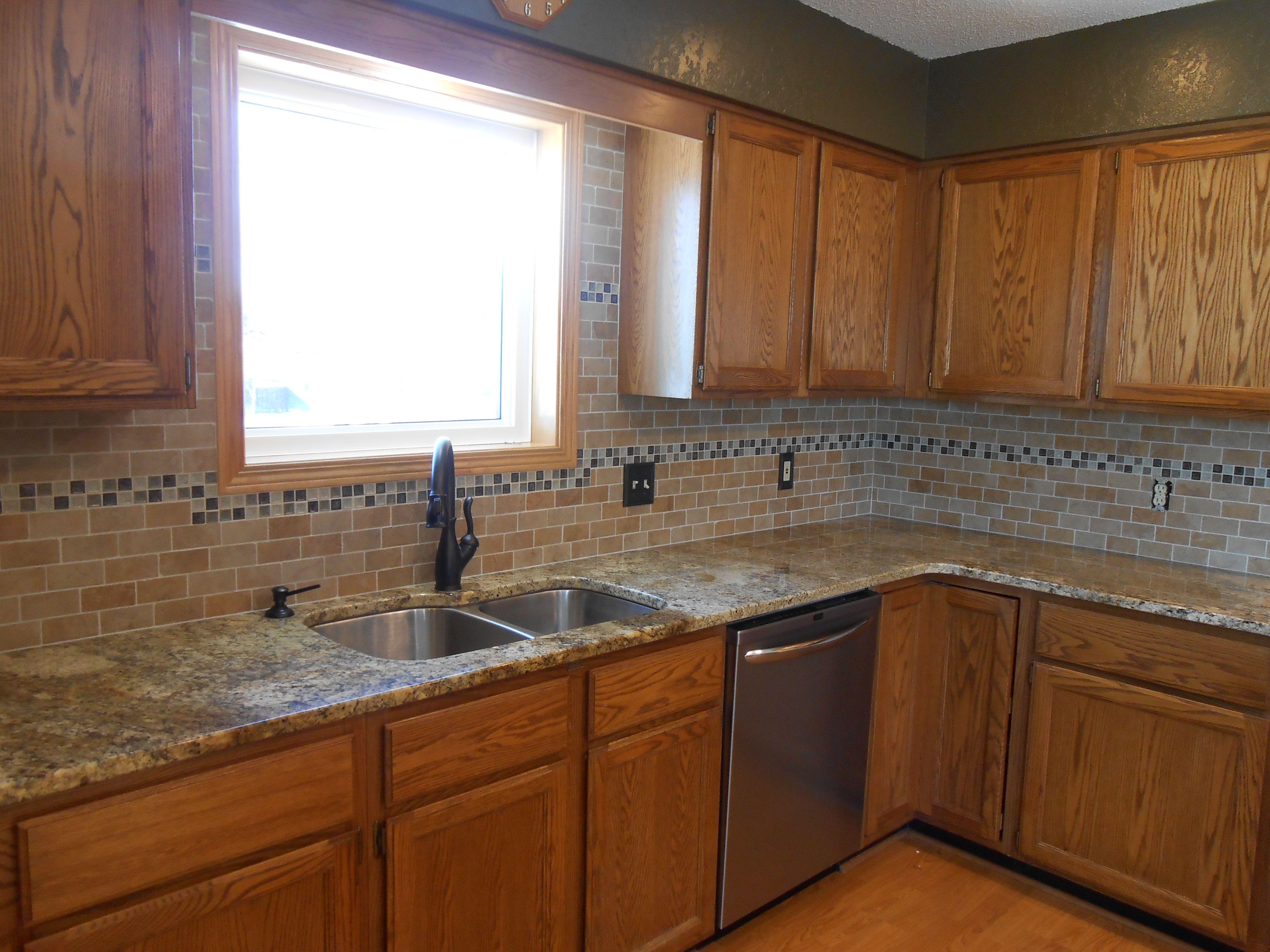 Our Latest Kitchen Backsplash Project Brighter Homes Store In Redwood Falls Mn Kitchen Backsplash Kitchen Kitchen Remodel