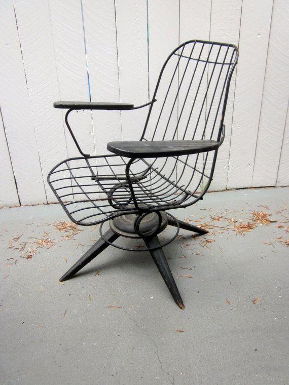 vintage fil du fauteuil pivotant meubles de patio de. Black Bedroom Furniture Sets. Home Design Ideas