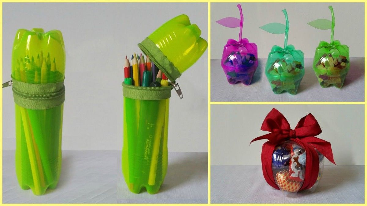 10 Handicraft Ideas Using Plastic Bottle