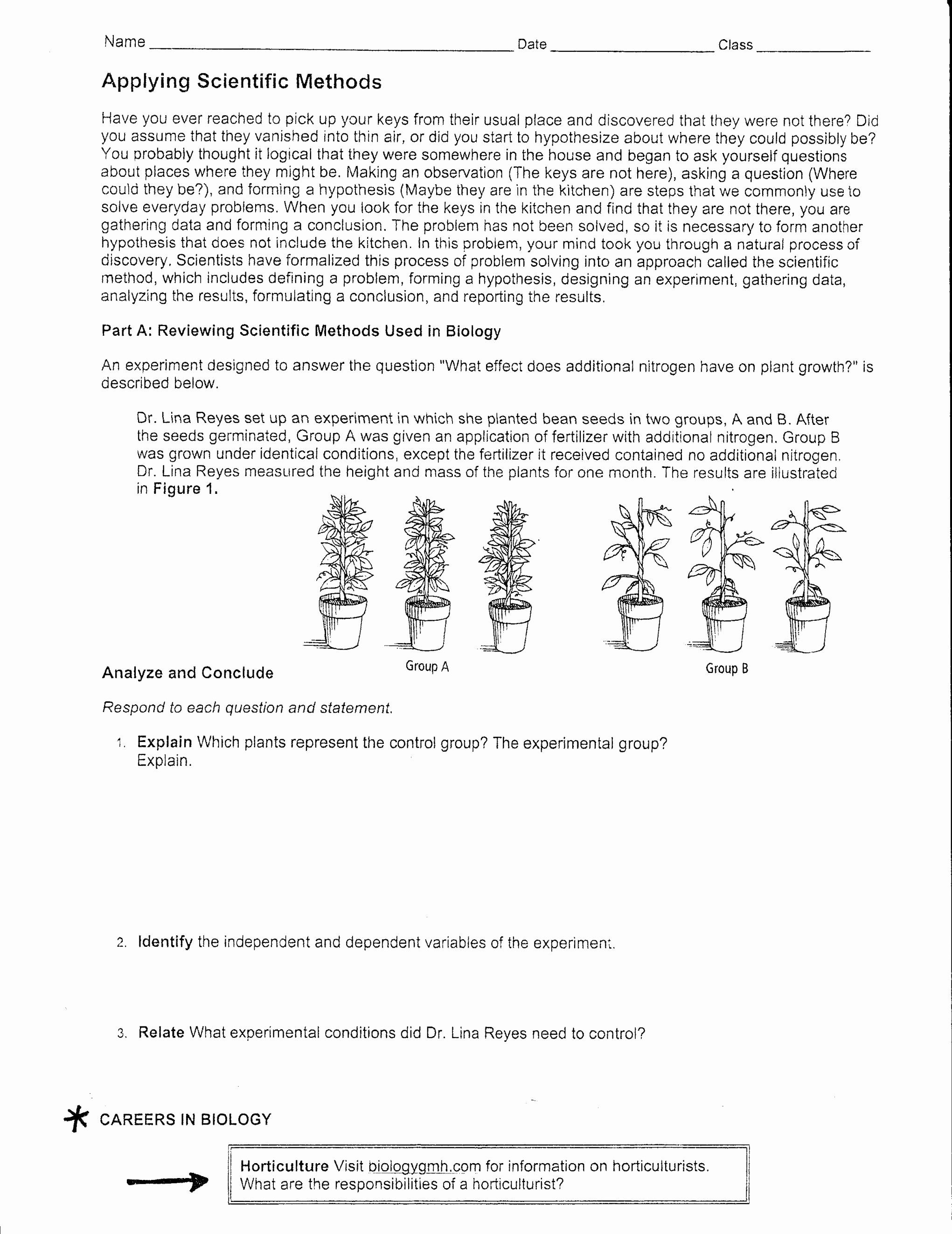 Inspirational Scientific Method Worksheet Answers