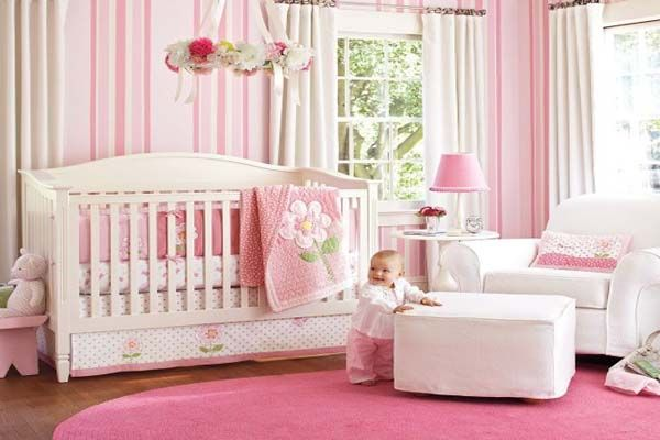 Cute Design For S Baby Rooms With Pink Carpet And White Sofa Http