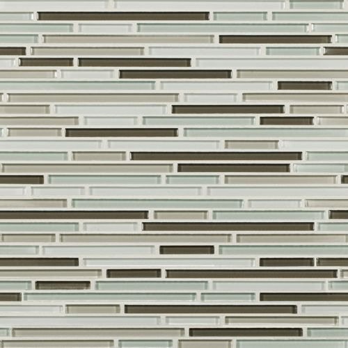 Artistic Tile | Opera Glass Collection; Serenade Gloss Harmonic Lines #glass #tile #mosaic