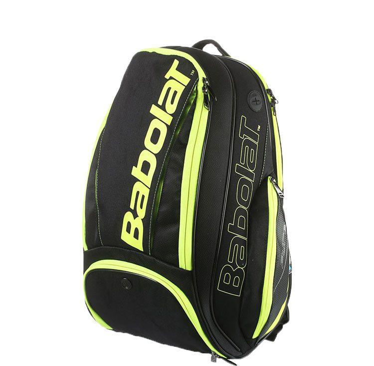 New 2019 Babolat Pure Aero Tennis Backpack Black//Yellow 2 Racquets