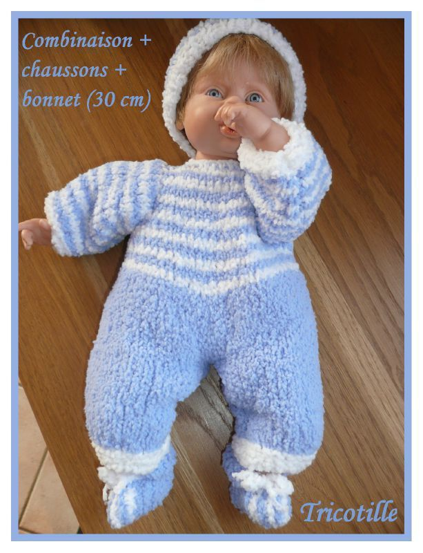 patron tricot poupon 40 cm
