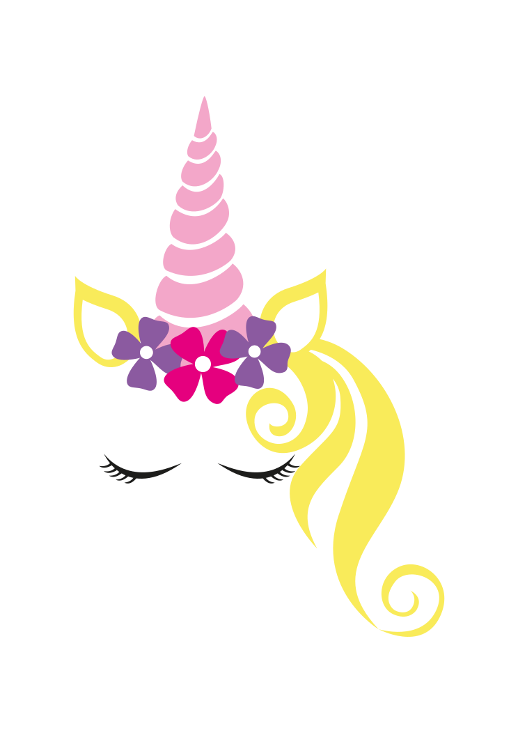 Hand Drown Unicorn Head With Tail 105 Svg Dxf Pdf Png Eps Jpg T Unicorn Svg Unicorn Face Unicorn Head