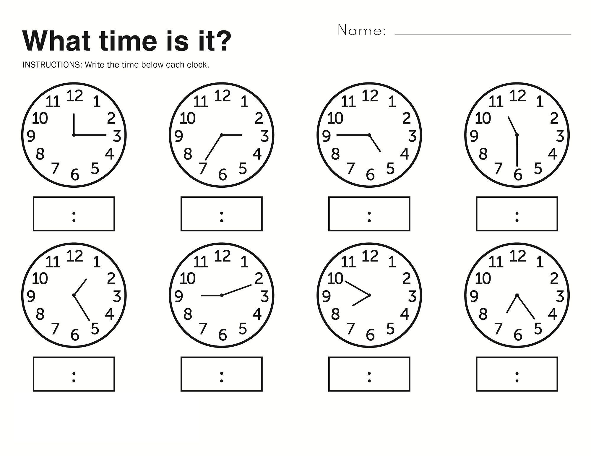 Time Elapsed Worksheets to Print | Kids Worksheets Printable ...