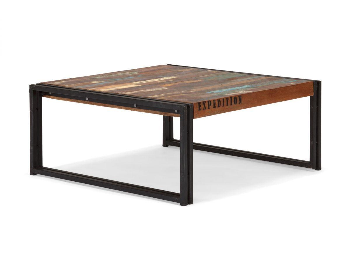 Unglaublich Couchtisch 80 X 80 Dekoration Von 80x80 Antik Holz Massiv Metall Designer Trie